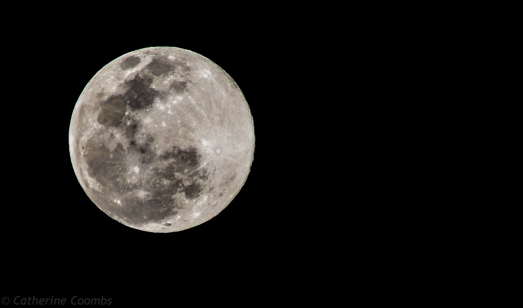 Photograph of the full moon on 12 July 2014.  Taken by Cairns Photographer Catheirne Coombs